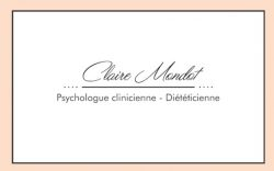 Carte De Visite Recto Claire Mondot Psychologue